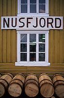 Europe/Norvège/Iles Lofoten/Nusfjord: détail pècherie sur le port de péche au skréi - cabillaud