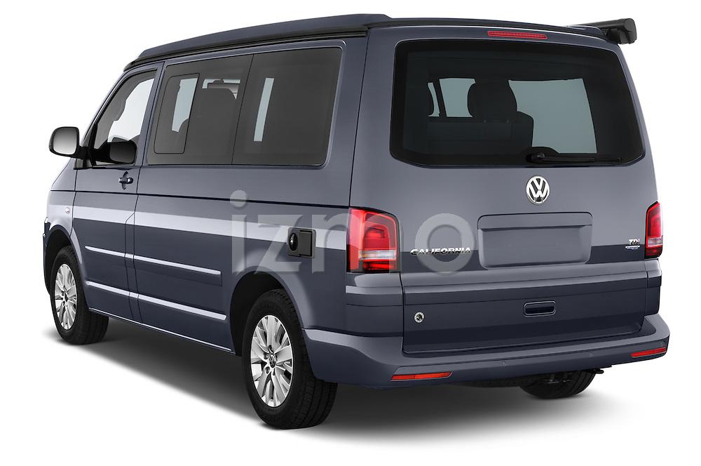 Car pictures of rear three quarter view of a 2014 Volkswagen CALIFORNIA COMFORTLINE EDITION BLUEMOTION 4 Door Minivan Angular Rear