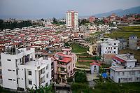 NEPAL Kathmandu, city growth, gated community / Staedtewachstum, gated community