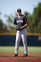Colorado Rockies pitcher Riley Pint (84) during an Instructional League game against the San Francisco Giants on October 8, 2016 at the Giants Baseball Complex in Scottsdale, Arizona.  (Mike Janes/Four Seam Images)