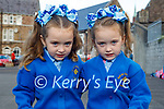 Savannah and Sammy O'Brien from Tralee, first day in junior infants in Presentation NS Tralee on Monday.