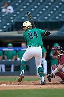 Matt Vierling (24) of the Notre Dame Fighting Irish at bat against the Florida State Seminoles in Game Four of the 2017 ACC Baseball Championship at Louisville Slugger Field on May 24, 2017 in Louisville, Kentucky. The Seminoles walked-off the Fighting Irish 5-3 in 12 innings. (Brian Westerholt/Four Seam Images)