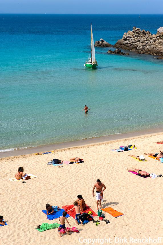 Strand Rena Bianca in Santa Teresa di Gallura, Provinz Olbia-Tempio, Nord Sardinien, Italien