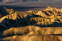 These hills at Zabrisky Point in Death Valley will change colors as the sun rises as well as seasonally as the angle of the sun changes.