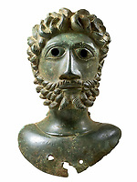 BNPS.co.uk (01202 558833)<br /> Pic: Hansons/BNPS<br /> <br /> Bust of Roman Emperor Marcus Aurelius<br /> <br /> Two metal detectorists are today celebrating after a 'nationally important' Roman bronze hoard of artefacts they dug up sold for £240,500<br /> <br /> James Spark and Mark Didlick uncovered the bust of emperor Marcus Aurelius last year alongside a statuette of the god of Mars on horseback, a horse-head knife handle and a large bronze pendulum.<br /> <br /> The immaculately preserved items were buried in a field in Ryedale, North Yorks, as an offering to the gods as part of a Roman religious ceremony in about 160AD.