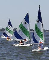 Sailboats on Lake Erie Wednesday, July 5, 2006, in Lakeside, Ohio.