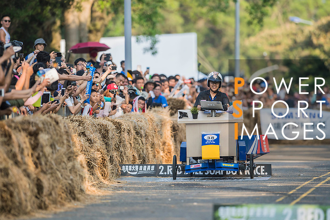Team 追夢人2018  in action during the Red Bull Soapbox Race 2017 Taipei at Multipurpose Gymnasium National Taiwan Sport University on 01 October 2017, in Taipei, Taiwan. Photo by Victor Fraile / Power Sport Images