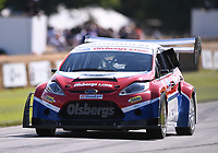 9th July 2021;  Goodwood  House, Chichester, England; Goodwood Festival of Speed; Day Two; Ian Gwynne drives a Ford Fiesta Pikes Peak in the Goodwood Hill Climb