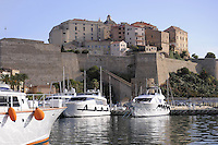 - Corsica, port of Calvi, view of the Citadel<br /> <br /> - Corsica, porto di Calvi, veduta della Cittadella