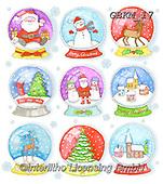 Kate, GIFT WRAPS, GESCHENKPAPIER, PAPEL DE REGALO, Christmas Santa, Snowman, Weihnachtsmänner, Schneemänner, Papá Noel, muñecos de nieve, paintings+++++Christmas globes,GBKM17,#gp#,#x# ,sticker,stickers