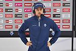 Fabio Wagner (Nr.5 - ERC Ingolstadt) vor dem Spiel im Interview bei Magenta Sport beim Spiel im Halbfinale der DEL, ERC Ingolstadt (dunkel) - Eisbaeren Berlin (hell).<br /> <br /> Foto © PIX-Sportfotos *** Foto ist honorarpflichtig! *** Auf Anfrage in hoeherer Qualitaet/Aufloesung. Belegexemplar erbeten. Veroeffentlichung ausschliesslich fuer journalistisch-publizistische Zwecke. For editorial use only.