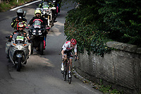 Bauke Mollema (NED/Trek-Segafredo) on his way to winning his first ever Monument Classic thanks to a well-timed attack on the Civiglio, the penultimate climb of the race.<br /> <br /> 113th Il Lombardia 2019 (1.UWT)<br /> 1 day race from Bergamo to Como (ITA/243km)<br /> <br /> ©kramon