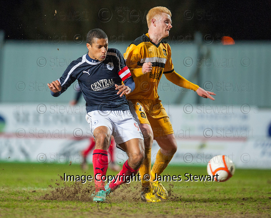 Falkirk's Lyle Taylor caps off a miserable week by missing another one on one with the keeper.