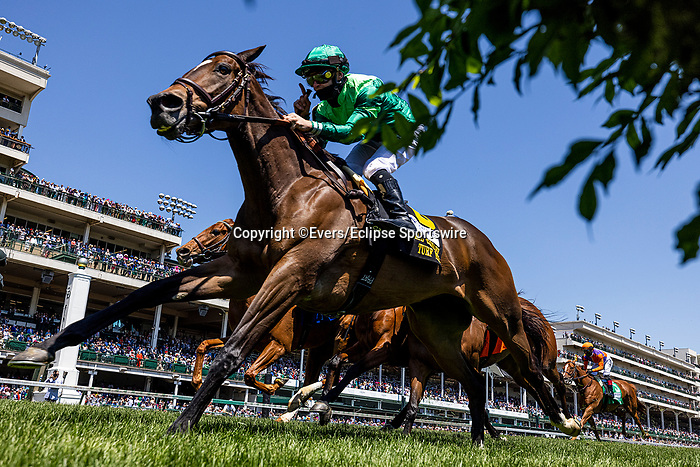 MAY 01, 2021: Blowout with Flavien Prat wins Churchill Turf distaff at Churchill Downs in Louisville, Kentucky on May 1, 2021. EversEclipse Sportswire/CSM