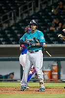 AZL Mariners left fielder Jose Sandoval (41) at bat against the AZL Cubs on August 4, 2017 at Sloan Park in Mesa, Arizona. AZL Cubs defeated the AZL Mariners 5-3. (Zachary Lucy/Four Seam Images)