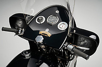 BNPS.co.uk (01202 558833)<br /> Pic: GraemeHunt/BNPS<br /> <br /> The bikes were the fastest machines on the road in the 1950's.<br /> <br /> £91,000 'box of bits' has been transformed into a beautiful and rare Vincent Black Prince - the last model from the famous marque.<br /> <br /> A classic motorbike has been painstakingly restored after being bought as a 'box of bits' from Bonhams in 2014 - and is now on sale for £140,000.<br /> <br /> The rare 1955 Vincent Black Prince bike was last ridden in 1967 when it was taken off road and dismantled for a major restoration project.<br /> <br /> But the work never happened and the jigsaw bike was sold in 2014 for a whopping £91,000.<br /> <br /> Since then the canny owner has spent five years and thousands of pounds putting the Vincent back together again.<br /> <br /> London based prestige dealer Graeme Hunt is now selling the very rare machine that was one of the first motorbikes to employ streamlining over its mighty V twin 1000 cc engine.