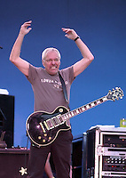 Jan 29, 2002 - Livermore, California, USA - PETER FRAMPTON gestures to the crowd during his concert at Wente Vineyards in Livermore, Calif., Monday evening July 1 2002. Frampton along with some long time band mates played a collection of new songs as well as old hits like 'Do You Feel Like We Do?'  .(Credit Image: © Alan Greth)