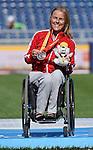 Diane Roy, Toronto 2015 - Para Athletics // Para-athlétisme.<br /> Diane Roy receives her Bronze medal for the Women's 400m T54 // Diane Roy reçoit sa médaille de bronze au 400 m T54 féminin. 12/08/2015.