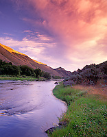 Sunrise on North Powder River, Oregon