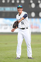 Sheehan Planas-Arteaga #33 of the Everett AquaSox during a game against the Boise Hawks at Everett Memorial Stadium on July 22, 2014 in Everett, Washington. Everett defeated Boise, 6-0. (Larry Goren/Four Seam Images)