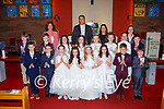 Loughquittane NS pupils who received their First Holy Communion in Muckross Church on Saturday