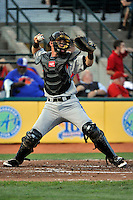 Aberdeen Ironbirds catcher Austin Goolsby (40) during game against the Brooklyn Cyclones at MCU Park in Brooklyn, NY June 21, 2010. Cyclones won 5-2.  Photo By Tomasso DeRosa/Four Seam Images