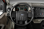 Steering wheel view of a 2008 Ford f250 Regular Cab