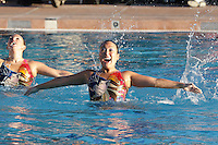 STANFORD, CA - FEBRUARY 7:  Taylor Durand (left) and Debbie Chen (right) of the Stanford Cardinal during Stanford's 88-78 win against the Incarnate Word Cardinals on February 7, 2009 at Avery Aquatic Center in Stanford, California.