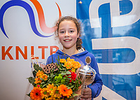 Hilversum, Netherlands, December 3, 2017, Winter Youth Circuit Masters, 12,14,and 16 years, winner girls 12 years Loes Ebbeling Koning<br /> Photo: Tennisimages/Henk Koster