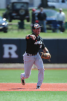 University of Cincinnati Bearcats infielder Connor McVey (18) during practice before a game against the Rutgers University Scarlet Knights at Bainton Field on April 19, 2014 in Piscataway, New Jersey. Rutgers defeated Cincinnati 4-1.  (Tomasso DeRosa/ Four Seam Images)