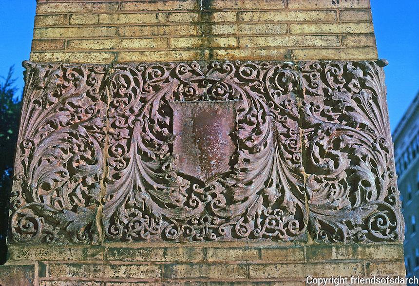St. Louis: West End, Washington Terrace Gate--detail. 1894. (Sullivanesque?)  Photo '78.