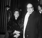 """BETTINO E ANNA CRAXI <br /> MOSTRA """"L'ATELIER DELLE ILLUSIONI"""" DI VALENTINO GARAVANI - CASTELLO SFORZESCO MILANO 1985"""