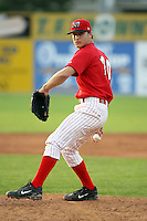 June 25th 2008:  Pitcher Dan Richardson (20) of the Batavia Muckdogs, Class-A affiliate of the St. Louis Cardinals, during a game at Dwyer Stadium in Batavia, NY.  Photo by:  Mike Janes/Four Seam Images