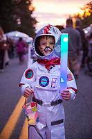 Astronaut Boy, Arts A Glow Festival 2017, Dottie Harper Park, Burien, WA, USA.