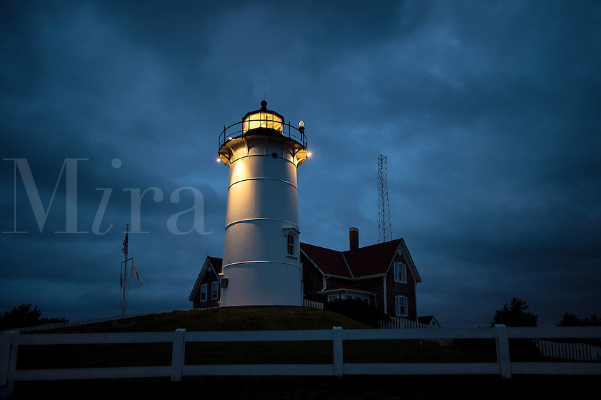 Nobska Lighthouse, Woods Hole, Cape Cod, Massachusetts,