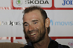 Alejandro Valverde (ESP) at the Spanish Federation press conference after the Men U23 Road Race of the UCI World Championships 2019 running 186.9km from Doncaster to Harrogate, England. 27th September 2019.<br /> Picture: Eoin Clarke | Cyclefile<br /> <br /> All photos usage must carry mandatory copyright credit (© Cyclefile | Eoin Clarke)