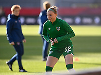 Haley Nolan (22) of the Irish Republic pictured ahead of a friendly female soccer game between the national teams of Belgium , called the Red Flames and The Republic of Ireland , on sunday 11 th of April 2021  in Brussels , Belgium . PHOTO Dirk Vuylsteke | Sportpix.be | SPP