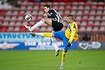 Dunfermline v St Johnstone..24.12.11   SPL .Marcus Haber and Paul Willis.Picture by Graeme Hart..Copyright Perthshire Picture Agency.Tel: 01738 623350  Mobile: 07990 594431