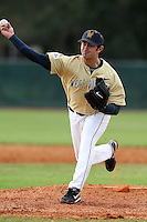 February 27, 2010:  Pitcher Chris Enourato (32) of West Virginia Mountaineers during the Big East/Big 10 Challenge at Raymond Naimoli Complex in St. Petersburg, FL.  Photo By Mike Janes/Four Seam Images