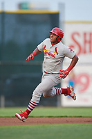 Johnson City Cardinals left fielder Leandro Cedeno (5) runs the bases during the second game of a doubleheader against the Princeton Rays on August 17, 2018 at Hunnicutt Field in Princeton, Virginia.  Princeton defeated Johnson City 12-1.  (Mike Janes/Four Seam Images)