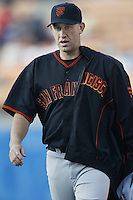 Kirk Rueter of the San Francisco Giants during a 2002 MLB season game against the Los Angeles Dodgers at Dodger Stadium, in Los Angeles, California. (Larry Goren/Four Seam Images)