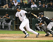 Luis Terrero of the Chicago White Sox vs. the Florida Marlins: June 19th, 2007 at Wrigley Field in Chicago, IL.  Photo copyright Mike Janes Photography 2007.