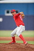 GCL Phillies East pitcher Carlos Francisco (83) during a Gulf Coast League game against the GCL Yankees East on July 31, 2019 at Yankees Minor League Complex in Tampa, Florida.  GCL Phillies East defeated the GCL Yankees East 4-3 in the second game of a doubleheader.  (Mike Janes/Four Seam Images)