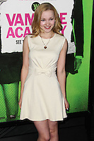 """LOS ANGELES, CA - FEBRUARY 04: Dove Cameron at the Los Angeles Premiere Of The Weinstein Company's """"Vampire Academy"""" held at Regal Cinemas L.A. Live on February 4, 2014 in Los Angeles, California. (Photo by Xavier Collin/Celebrity Monitor)"""