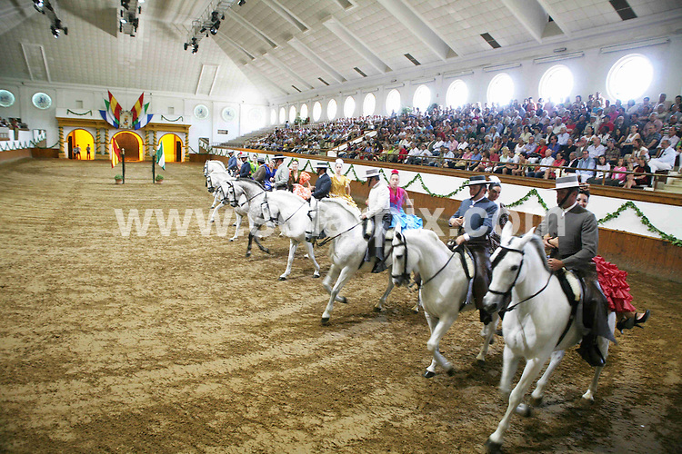 **ALL ROUND PICTURES FROM SOLARPIX.COM**                                             **WORLDWIDE SYNDICATION RIGHTS EXCEPT SPAIN & SOUTH AMERICA - NO SYNDICATION IN SPAIN OR SOUTH AMERICA**                                                                                  Caption: The Royal Andalusian School of Equestrian Art in Jerez de la Frontera, Cadiz, Spain, is known for its - How to Andalusian Horses Dance show. With capacity for 1,600 people and stables for 60 horses, the school is world renowned and prides itself on traditional equestrian excersises. Jerez de la Frontera, Cadiz, Spain. 31 May 2011                                                                              This pic: The Royal Andalusian School of Equestrian Art in Jerez de la Frontera                                                                                             JOB REF: 13471 MPA       DATE: 31_05_2011                                                           **MUST CREDIT SOLARPIX.COM OR DOUBLE FEE WILL BE CHARGED**                                                                      **MUST AGREE FEE BEFORE ONLINE USAGE**                               **CALL US ON: +34 952 811 768 or LOW RATE FROM UK 0844 617 7637**