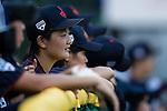 #19 Himeno Mayu of Japan within her teammates during the BFA Women's Baseball Asian Cup match between Pakistan and Japan at Sai Tso Wan Recreation Ground on September 4, 2017 in Hong Kong. Photo by Marcio Rodrigo Machado / Power Sport Images