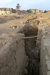 Excavations between the temple complexes of Luxor and Karnak.The town of Luxor occupies the eastern part of a great city of antiquity which the ancient Egytians called Waset and the Greeks named Thebes.