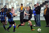 Capital Under-10 Girls Football - Miramar Rangers Topaz v Waterside Karori AFC U10 Tui at the Basin Reserve in Wellington, New Zealand on Sunday, 6 June2021. Photo: Dave Lintott / lintottphoto.co.nz