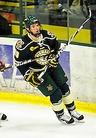 12 November 2010: University of Vermont Catamount forward Matt White, a Freshman from McMurray, PA, in action against the Boston College Eagles at Gutterson Fieldhouse in Burlington, Vermont. The Eagles edged out the Cats 3-2 in the first game of their weekend series. Mandatory Credit: Ed Wolfstein Photo