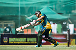 Aubrey Swanepoel of South Africa hits a shot during Day 1 of Hong Kong Cricket World Sixes 2017 Group A match between Marylebone Cricket Club vs South Africa at Kowloon Cricket Club on 28 October 2017, in Hong Kong, China. Photo by Yu Chun Christopher Wong / Power Sport Images